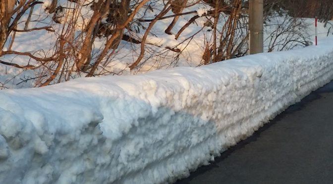 雪国あるある 除雪した雪が壁になる!除雪壁